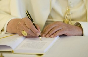 pope writing