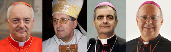 Cardinal Piacenza and Archbishops Stella, Eterovic and Baldisseri
